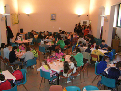 Pranzo in compagnia all'Oratorio per la festa di Don Bosco